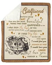 "Skull To My GirIfriend Want You To Believe Deep Sherpa Fleece Blanket - 50"" x 60"" thumbnail"