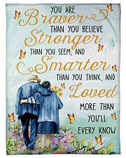 """Family You Are Braver Small Fleece Blanket - 30"""" x 40"""" front"""