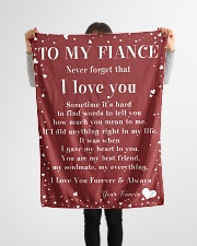 "Family To My Fiance Sometime It's Hard Small Fleece Blanket - 30"" x 40"" aos-coral-fleece-blanket-30x40-lifestyle-front-14"
