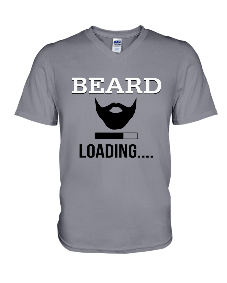 BEARD IS LOADING  V-Neck T-Shirt