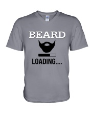 BEARD IS LOADING  V-Neck T-Shirt front