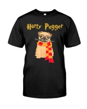 Harry Pugger Funny Pug Halloween T-Shirt Dog Lover Classic T-Shirt front
