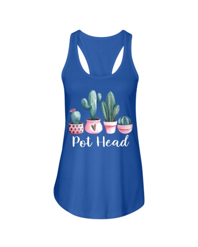 PLANT AND WEED PUN - POT HEAD FUNNY TSHIRT