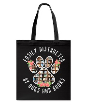 Easily Distracted By Dogs And Books - Animal Book Tote Bag thumbnail