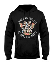 Easily Distracted By Dogs And Books - Animal Book Hooded Sweatshirt thumbnail