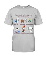 Dinge die ich in meiner Freizeit mache Classic T-Shirt front
