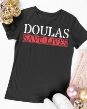 Doulas Save Lives Premium Fit Ladies Tee apparel-premium-fit-ladies-tee-lifestyle-14