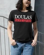 Doulas Save Lives Premium Fit Ladies Tee apparel-premium-fit-ladies-tee-lifestyle-front-34