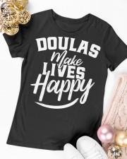 Doulas make lives happy Premium Fit Ladies Tee apparel-premium-fit-ladies-tee-lifestyle-14
