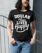 Doulas make lives happy Premium Fit Ladies Tee apparel-premium-fit-ladies-tee-lifestyle-front-34