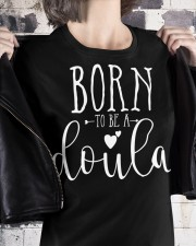 Born to be a doula Premium Fit Ladies Tee apparel-premium-fit-ladies-tee-lifestyle-32