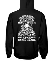 MESS WITH MY DAUGHTER Hooded Sweatshirt back