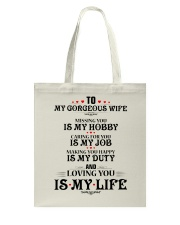 TO MY GORGEOUS WIFE Tote Bag tile