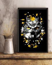 Owl with orange eyes 11x17 Poster lifestyle-poster-3