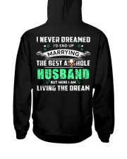 Best Husband Tee Hooded Sweatshirt back