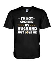 I'm Not Spoiled My Husband Just Loves Me V-Neck T-Shirt thumbnail