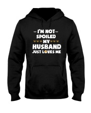 Im Not Spoiled My Husband Just Loves Me Hooded Sweatshirt tile