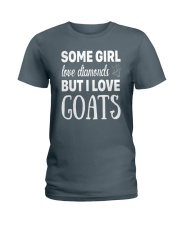 FUNNY TSHIRT FOR FARMERS WHO LOVE GOAT Ladies T-Shirt front
