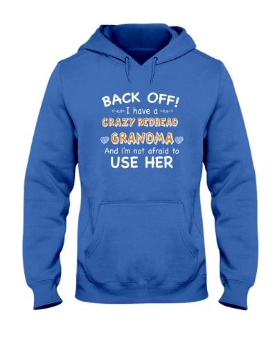 CRAZY REDHEAD GRANDMA T-SHIRT TANK TOP HOODIE HAT