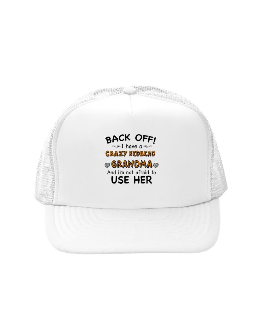 CRAZY REDHEAD GRANDMA T-SHIRT TANK TOP HOODIE HAT Trucker Hat