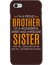 I'm Proud Brother Of Awesome Sister Phone Case thumbnail