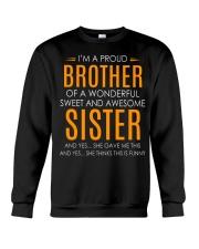 I'm Proud Brother Of Awesome Sister Crewneck Sweatshirt thumbnail