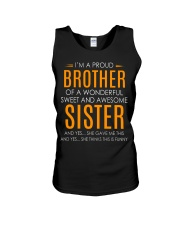I'm Proud Brother Of Awesome Sister Unisex Tank thumbnail
