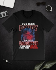 I'M PROUD DADDY OF PRETTY DAUGHTER Classic T-Shirt lifestyle-mens-crewneck-front-16