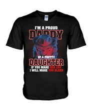 I'M PROUD DADDY OF PRETTY DAUGHTER V-Neck T-Shirt thumbnail