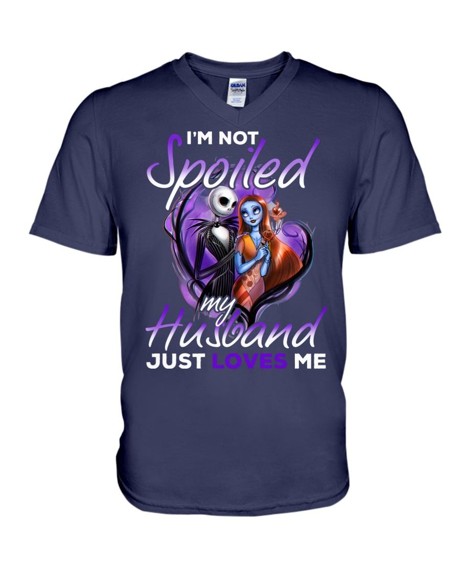 Im Not Spoiled My Husband Just Loves Me V-Neck T-Shirt