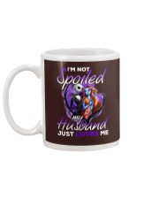 Im Not Spoiled My Husband Just Loves Me Mug back