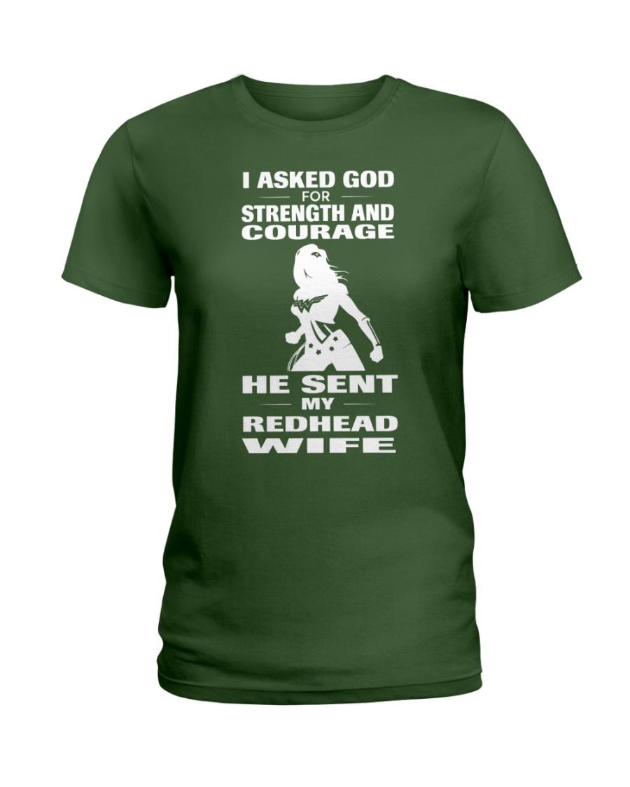 REDHEAD WIFE T-SHIRT HOODIE V-NECK Ladies T-Shirt