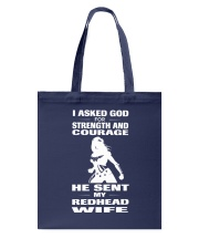 REDHEAD WIFE T-SHIRT HOODIE V-NECK Tote Bag front