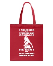 REDHEAD WIFE T-SHIRT HOODIE V-NECK Tote Bag thumbnail