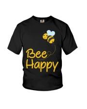 Bee Happy Bumble Bee Bee Lover Bumble Bee Gift Fun Youth T-Shirt thumbnail
