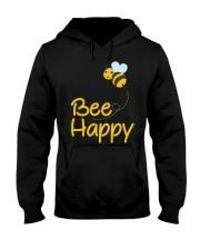 Bee Happy Bumble Bee Bee Lover Bumble Bee Gift Fun Hooded Sweatshirt thumbnail