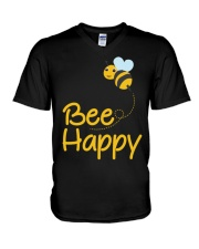 Bee Happy Bumble Bee Bee Lover Bumble Bee Gift Fun V-Neck T-Shirt thumbnail