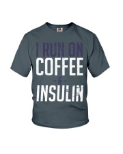 I Run On Coffee And Insulin Diabetes Tee shirts Youth T-Shirt thumbnail