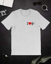 I LOVE MUSIC  Classic T-Shirt lifestyle-mens-crewneck-front-16