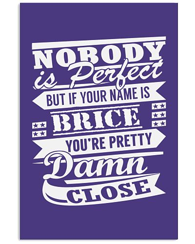 Nobody is Perfect But If Your Name is BRICE