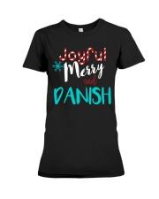 DANISH - JOYFUL AND MERRY Premium Fit Ladies Tee thumbnail