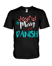 DANISH - JOYFUL AND MERRY V-Neck T-Shirt thumbnail