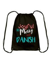 DANISH - JOYFUL AND MERRY Drawstring Bag thumbnail