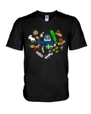 LOVE SWEDEN  V-Neck T-Shirt thumbnail
