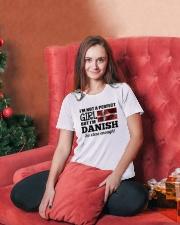 DANISH GIRL  Ladies T-Shirt lifestyle-holiday-womenscrewneck-front-2