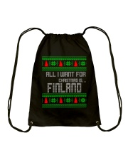 FINLAND CHRISTMAS Drawstring Bag thumbnail