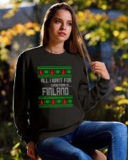 FINLAND CHRISTMAS Crewneck Sweatshirt lifestyle-unisex-sweatshirt-front-6