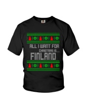 FINLAND CHRISTMAS Youth T-Shirt thumbnail