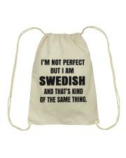 NOT PERFECT SWEDISH Drawstring Bag thumbnail