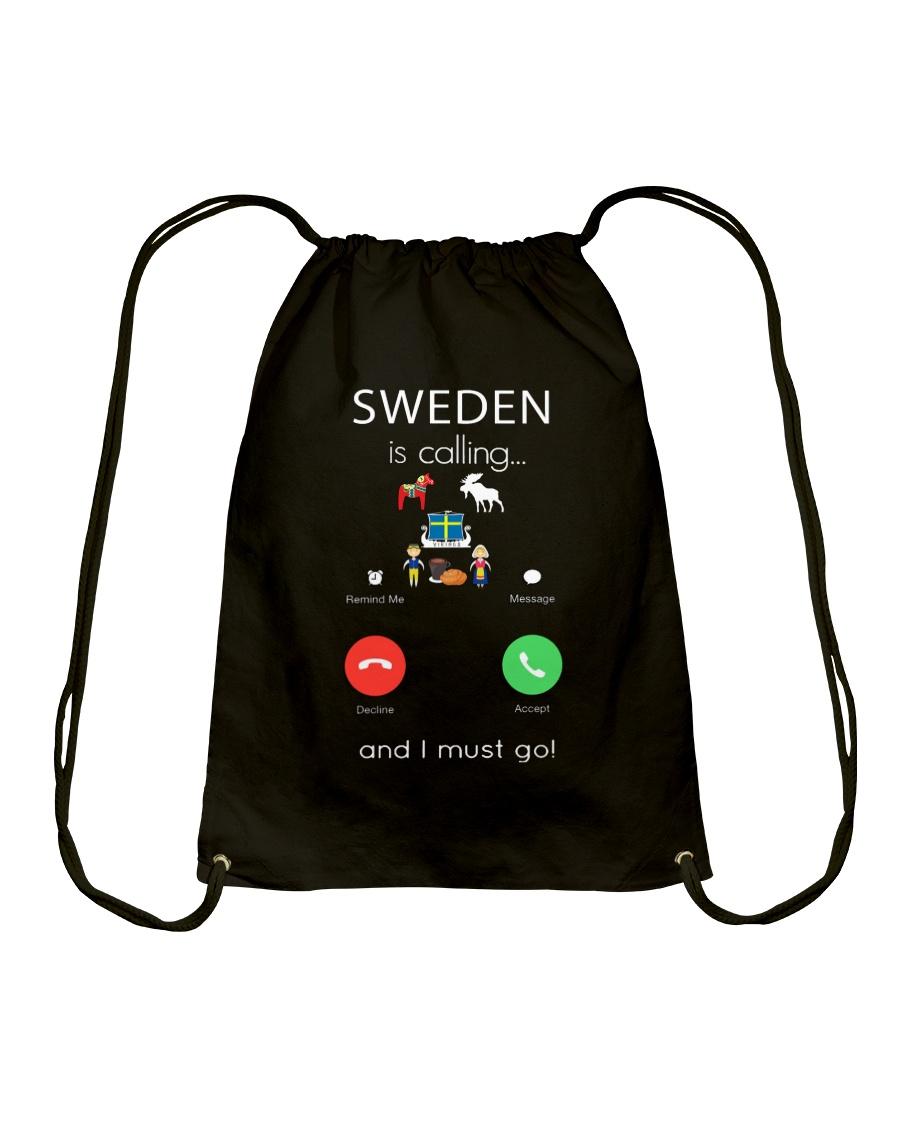 SWEDEN IS CALLING Drawstring Bag